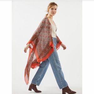 Urban Outfitters Tapestry Print Kimono Robe Jacket